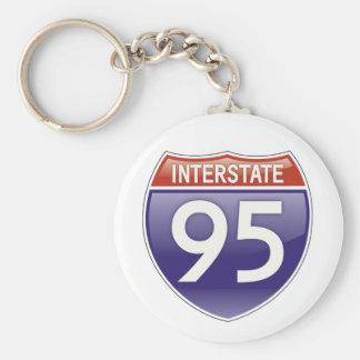 Interstate 95% pipe% coola rund nyckelring