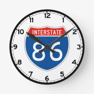 Interstate underteckna 86 - Pennsylvania Rund Klocka
