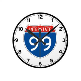 Interstate underteckna 99 - Pennsylvania Rund Klocka