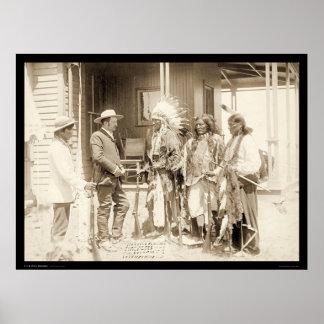 Intervjua tre Cheyenne indier SD 1887 Poster