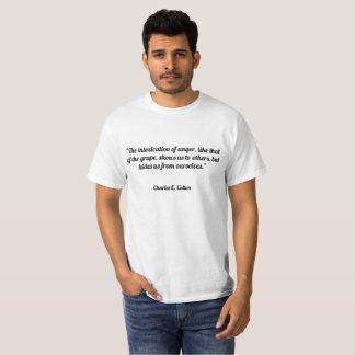 """""""Intoxicationen av ilska, något liknande som av T Shirts"""