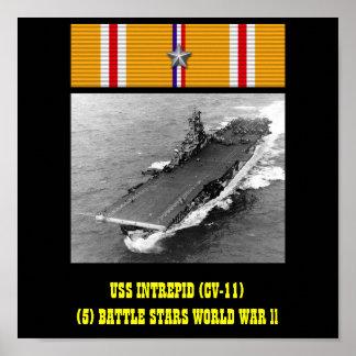INTREPID (CV-11) AFFISCH FÖR USS