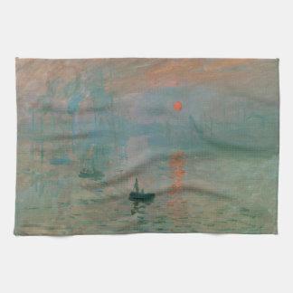 Intryck Soleil Levant vid Claude Monet 1872 Kökshandduk
