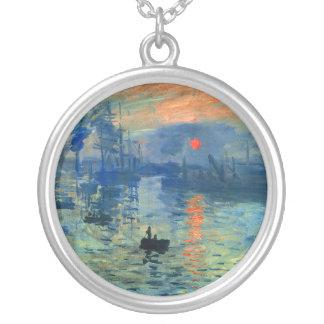 Intrycksoluppgång, Soleil Levant, Claude Monet Silverpläterat Halsband