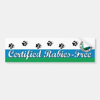 Intygad Rabies-Fri hundkoja eller bildekal