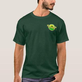 Intygade organiska förseglar på manar mörka t-shirts