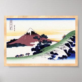 Inume passerar i det Kai landskapet Katsushika Poster