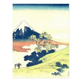 Inume passerar i det Kai landskapet - Katsushika Vykort