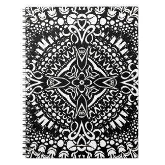 Invecklad arg geometri anteckningsbok med spiral