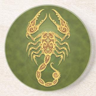 Invecklad grön stam- Scorpio Underlägg Sandsten
