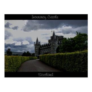 Inveraray slott i aftonen vykort
