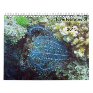 Invertebrates av den Fiji 2015 kalendern Kalender