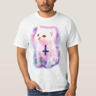 Inverterad arg kattungeT-tröja Tee Shirts