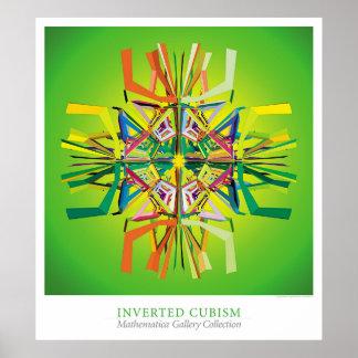 Inverterad Cubism Poster