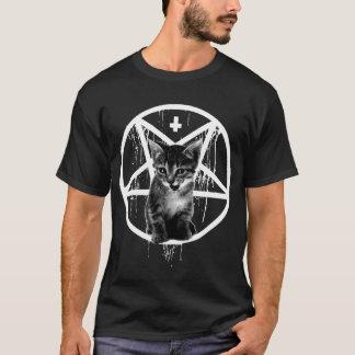 Inverterad kor- & PentagramkattT-tröja T-shirt