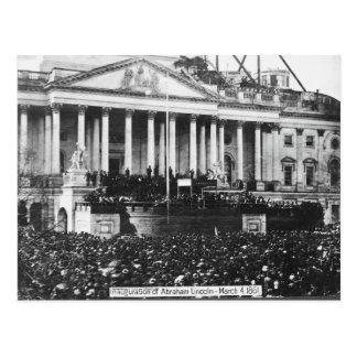 Invigning av Abraham Lincoln mars 4, 1861 Vykort