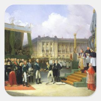 Invigning av en monument i minnet Louis XVI Fyrkantigt Klistermärke