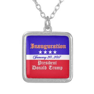 Invigning Donald Trump Januari 20, 2017 Silverpläterat Halsband