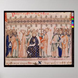 Invigning Philippe III le Hardi Göra till kung av Poster
