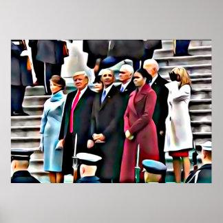Invigningdagpresident Obama & Donald Trump Poster