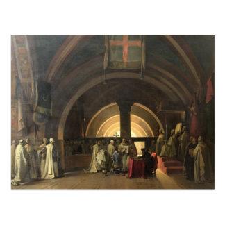 Invigningen av Jacques de Molay Vykort