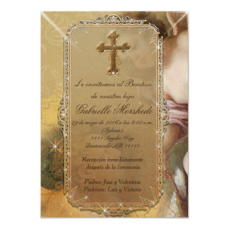 invitaciones de bautizo, dopinbjudningar 12,7 x 17,8 cm inbjudningskort
