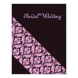 Invitation*Bridal*wedding*Henna 10,8 X 14 Cm Inbjudningskort