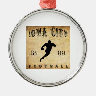 Iowa City Iowa fotboll 1899 Julgransprydnad Metall