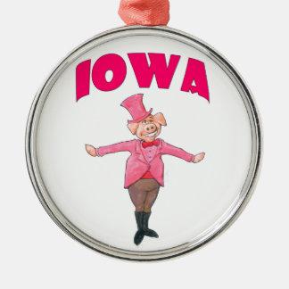 Iowa gris julgransprydnad metall
