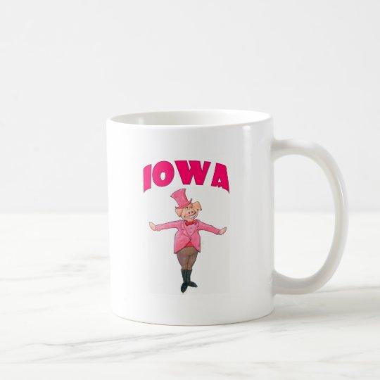 Iowa gris vit mugg