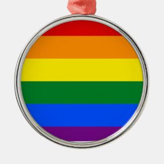 Iowa LGBT flaggakarta Julgransprydnad Metall