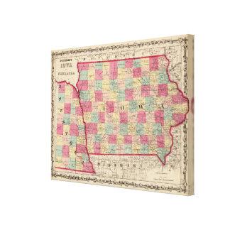 Iowa och Nebraska Canvastryck