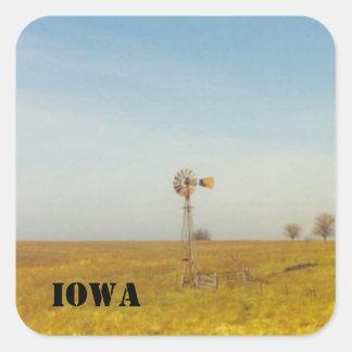 iowa platser fyrkantigt klistermärke