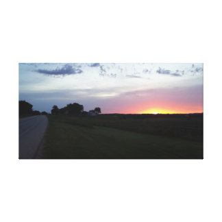 Iowa skymning canvastryck