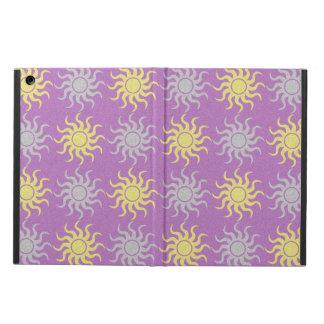 Ipad för lila- och gultsolmönster luftar fodral