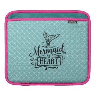 iPad vadderar - sjöjungfrun på hjärta Sleeves För iPads