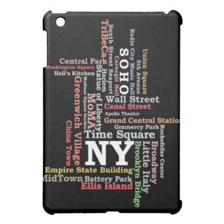 iPadCase New York NY - typografi iPad Mini Mobil Fodral