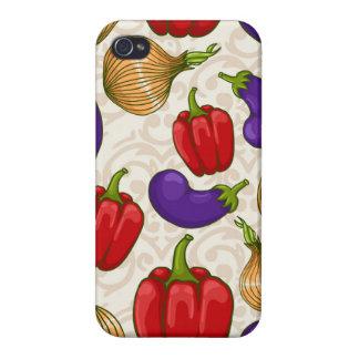 Iphone 4/4s fodral med grönsaker iPhone 4 fodral