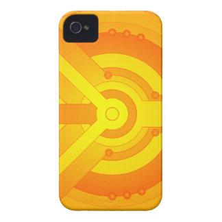 iPhone 4/4s för för Techie mönsterorange & blått iPhone 4 Case-Mate Skydd
