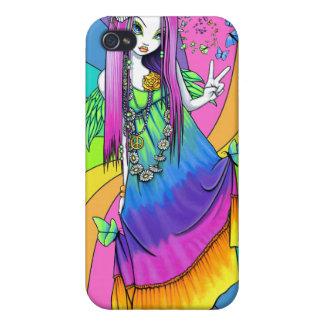 """IPhone 4 för Hippie """"för Chloe"""" regnbågefred iPhone 4 Skal"""