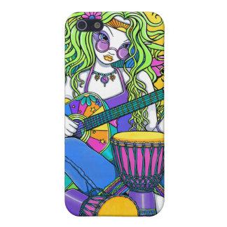 """IPhone 4 för Hippie """"för melodi"""" regnbågegitarr iPhone 5 Cases"""