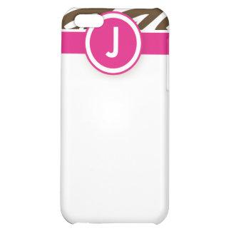iPhone 4 skraj zebra tryckfodralrosor/choklad iPhone 5C Mobil Skal