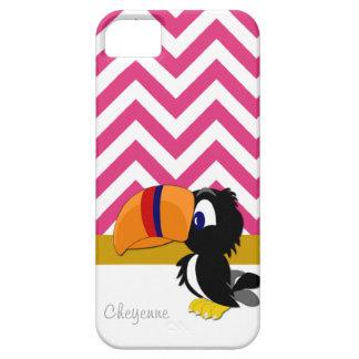 iPhone 5 för Toucan shock rosasparre knappt där iPhone 5 Fodraler