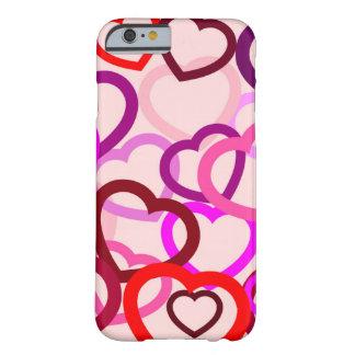 iPhone 6/6s, knappt där, intrasslade hjärtor Barely There iPhone 6 Skal