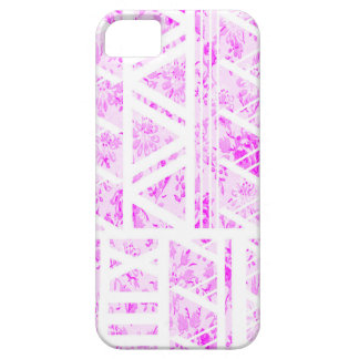 iPhone 6 blommigt för fodralrosa- och vitblomma iPhone 5 Case-Mate Fodral