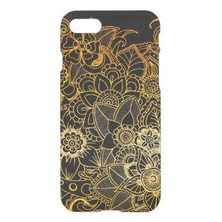 iPhone 8/7 blom- klotterguld G523 för fodral