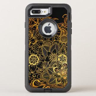iPhone 8/7 blom- klotterguld G523 för positivt