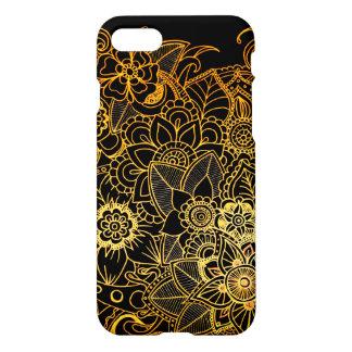 iPhone 8/7 guld G523 för klotter för fodralmarmor iPhone 7 Skal