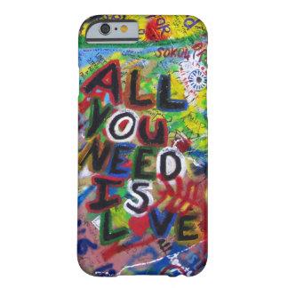 iphone case - all som du behöver, är kärlek - barely there iPhone 6 fodral