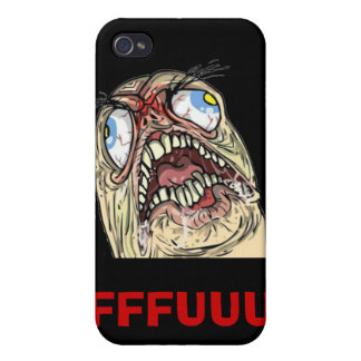 Iphone case för ansikte för FUUUU-internetMeme urs iPhone 4 Skydd